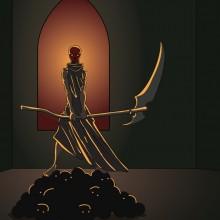 Illustration Masque Mort Rouge