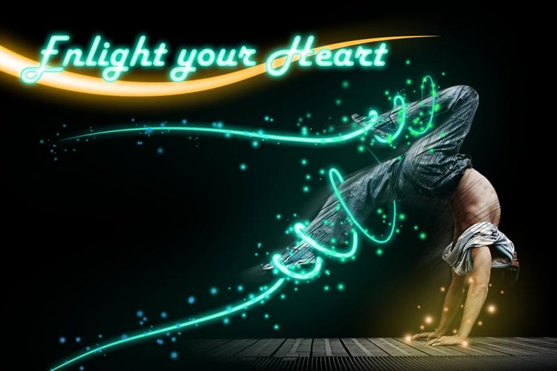 break dance effet néon