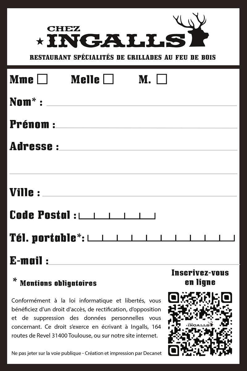 Flyer de Contact Chez Ingalls Verso
