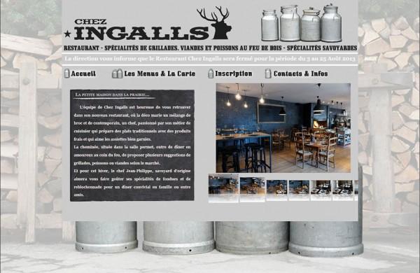 Page Accueil Site Chez Ingalls