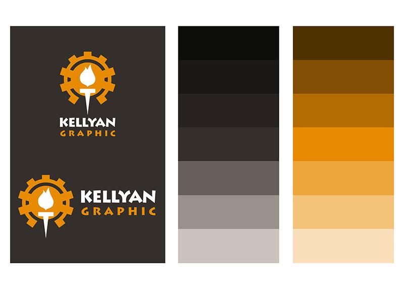 Logo Kellyan Graphic et charte couleurs