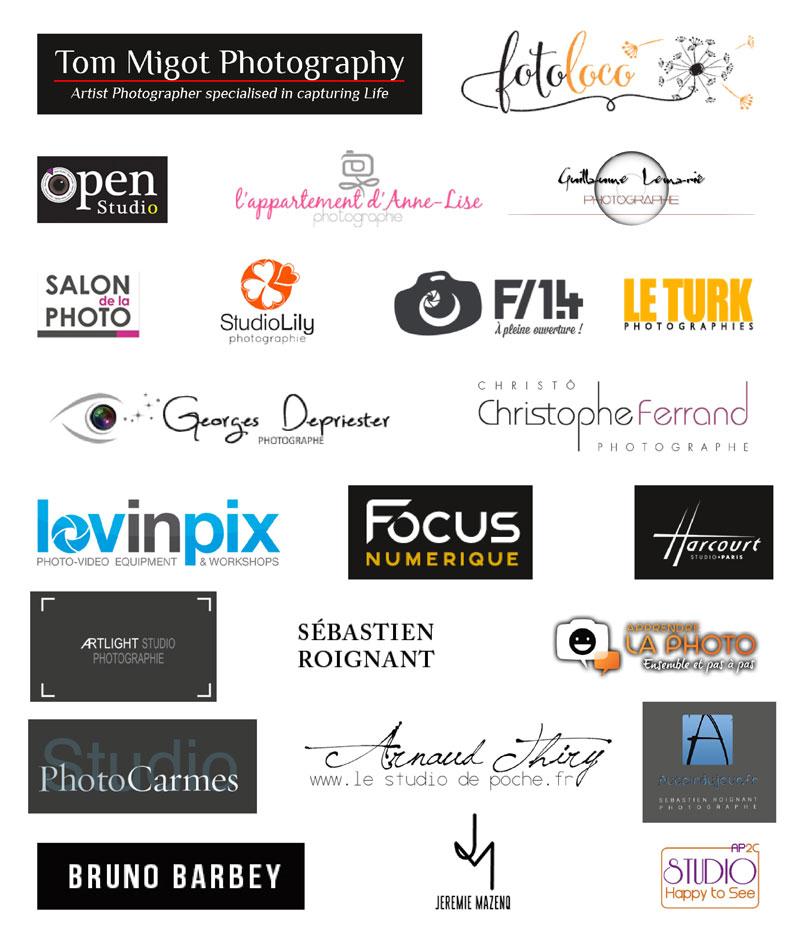 24 logos de plusieurs photographes