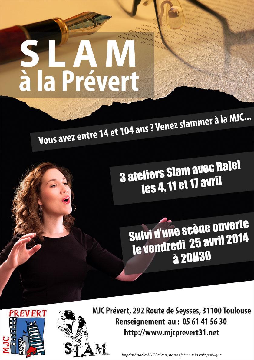 Affiche Slam à la Prévert