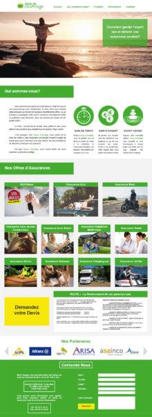 Maquette Site Web Assur Courtage