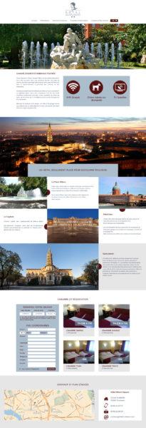 maquette site web hotel wilson square