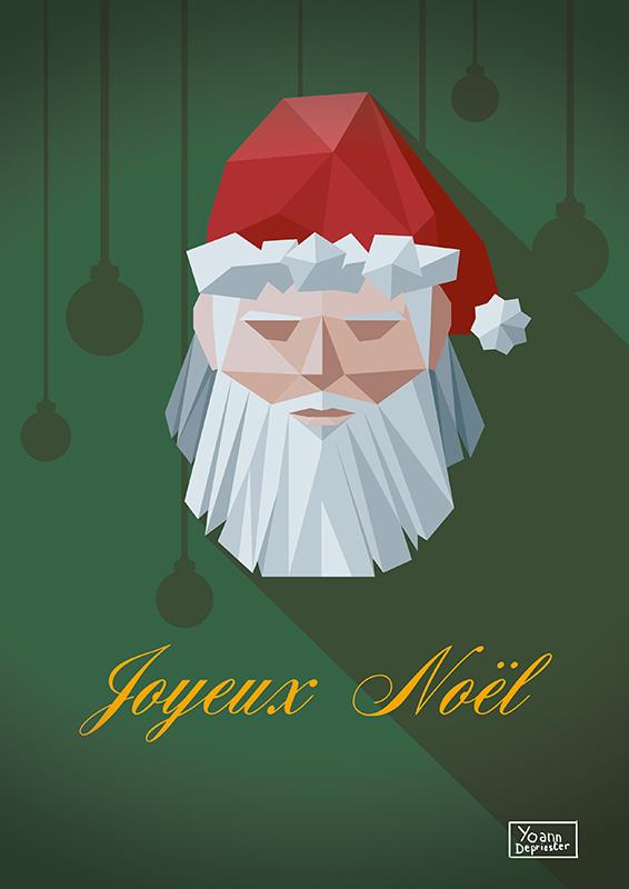 Christmas Card - Santa Klaus - Lowpoly