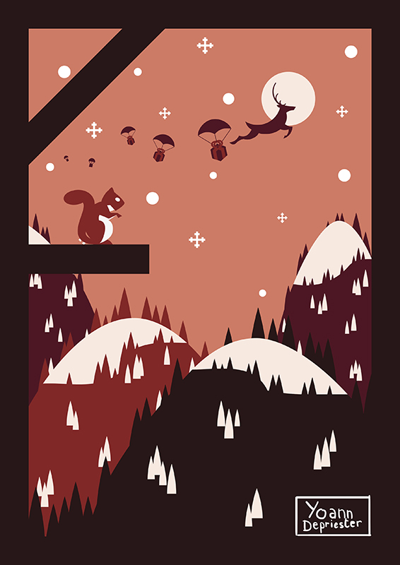 Christmas Card - Rudolphe